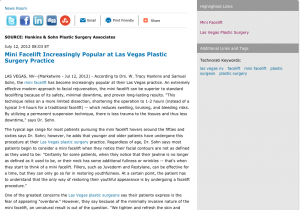 Facelift, Mini Facelift, Las Vegas NV, Plastic Surgeon, Plastic Surgery