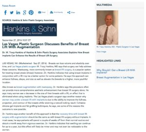 Dr. Hankins discusses breast lift surgery with implants.